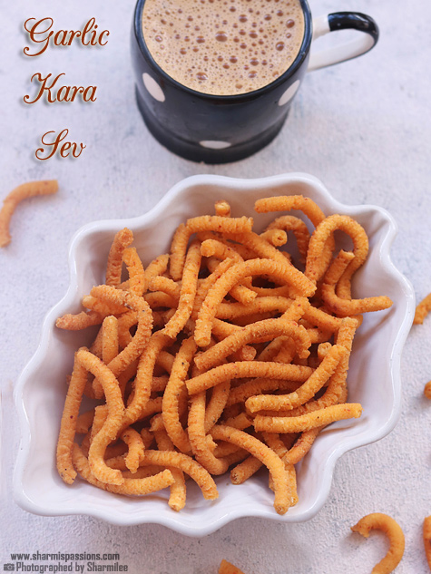 Garlic Kara Sev Recipe