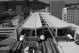 'Shinkansen' at Kagoshima Chuo Station on OCT 24, 2015 (1)