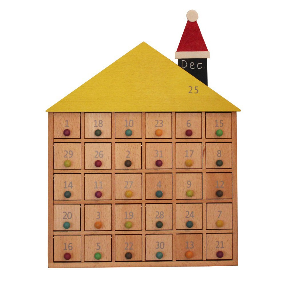 wooden advent calendar by kiko