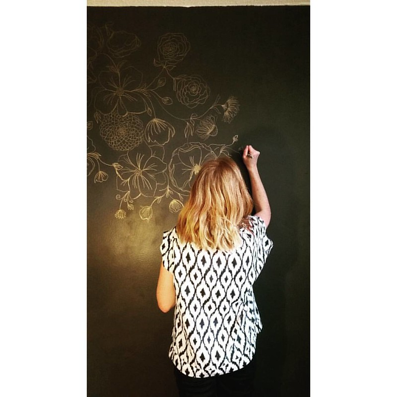 Color on your walls. #sharpie  Photo by the 13 yr old fellow.
