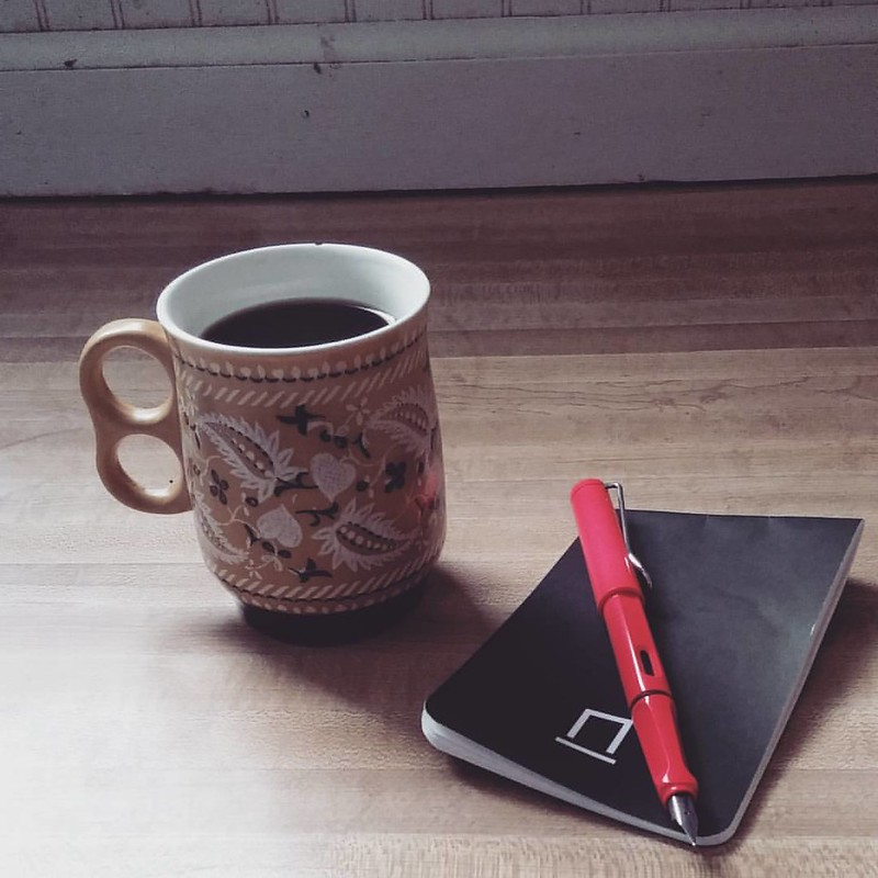 #coffee #pen #paper  #Lamy and #NockCo #notebook