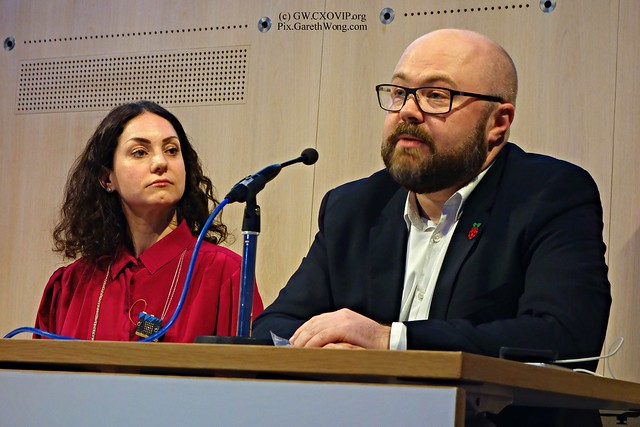 Philip Colligan chief executive of Raspberry Pi; Bethany Koby, Technology Will Save Us at RSA Makers Summit 2015 from RAW _DSC9000 #RSAMake
