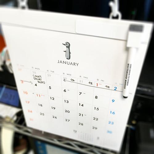ほぼ日ホワイトボードカレンダー2016【ミディアム】