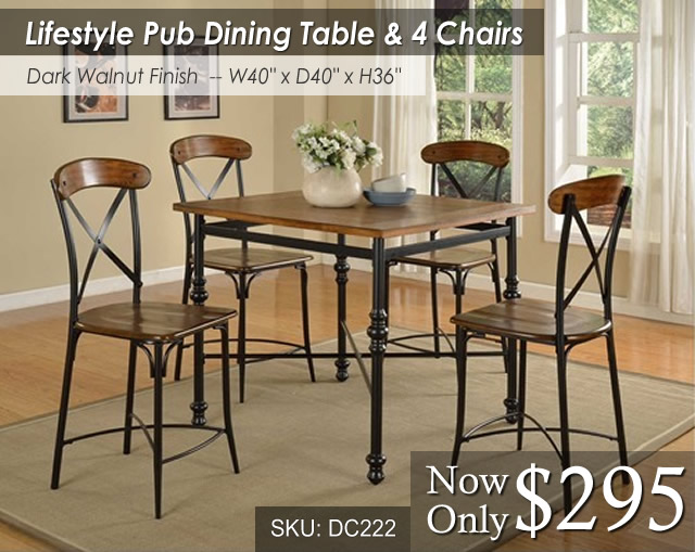 DC222DIN-Pub Lifestyle Dining Set