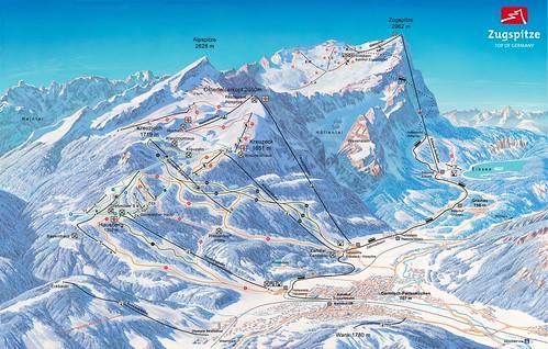 Garmisch-Partenkirchen - Classic - mapa sjezdovek