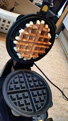 Mom got me a new waffle iron for my birthday!