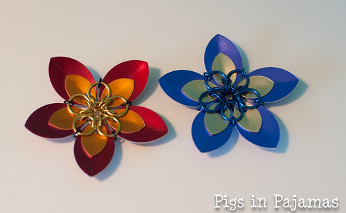 Scale maille flowers