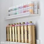 Pretty paint storage