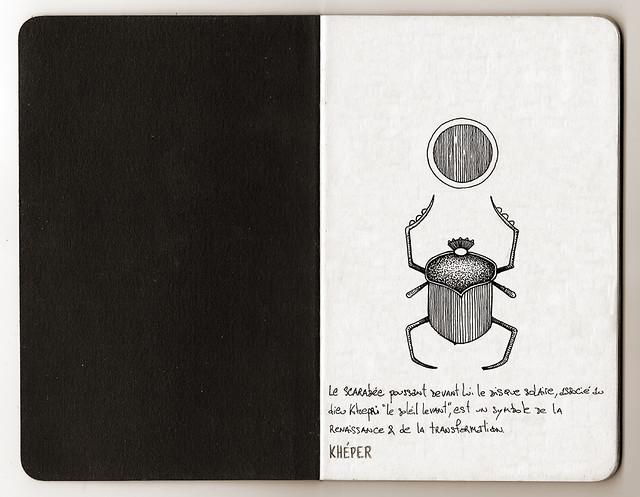 Carnet de voyage hiéroglyphique page 01