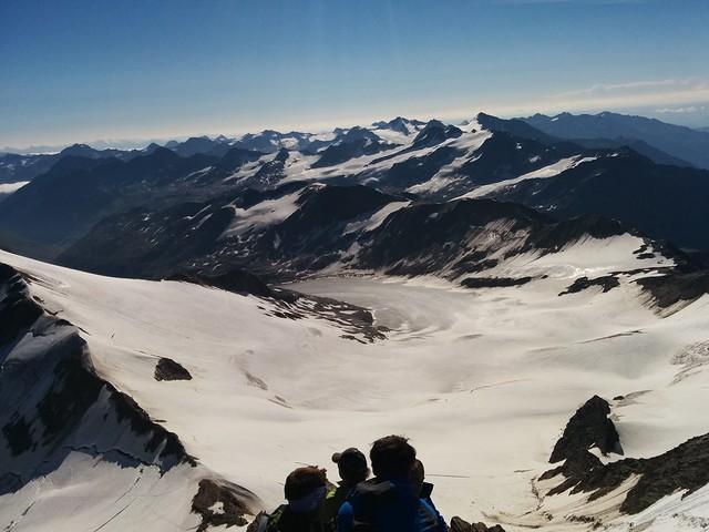 Ausblick vom Gipfel der Weißkugel