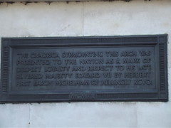 Photo of Edward VII bronze plaque