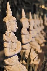 Buddist statues in Chiang Mai, Thailand