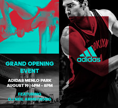 Wed. 8/19 - Tonite get a sneak peak of the new Menlo Park adidas store in Edison NJ