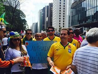 Manifestação contra o governo e a corrupção, realizada na Paulista
