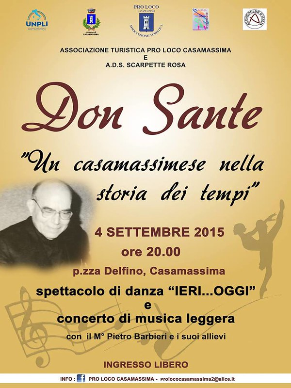 Casamassima- Don Sante - manifesto