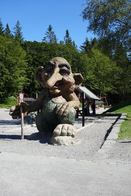 Trollfigur kurz vorm Fløien Folkerestaurant