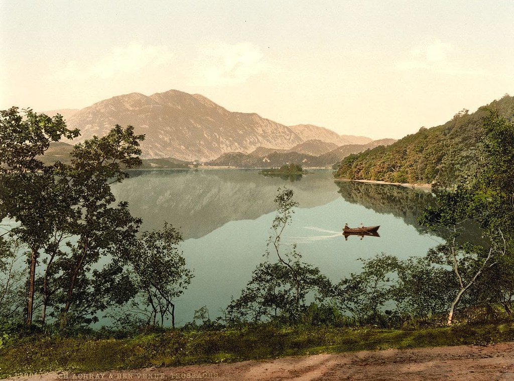 Loch Achray and Ben Venue, Trossachs, Scotland