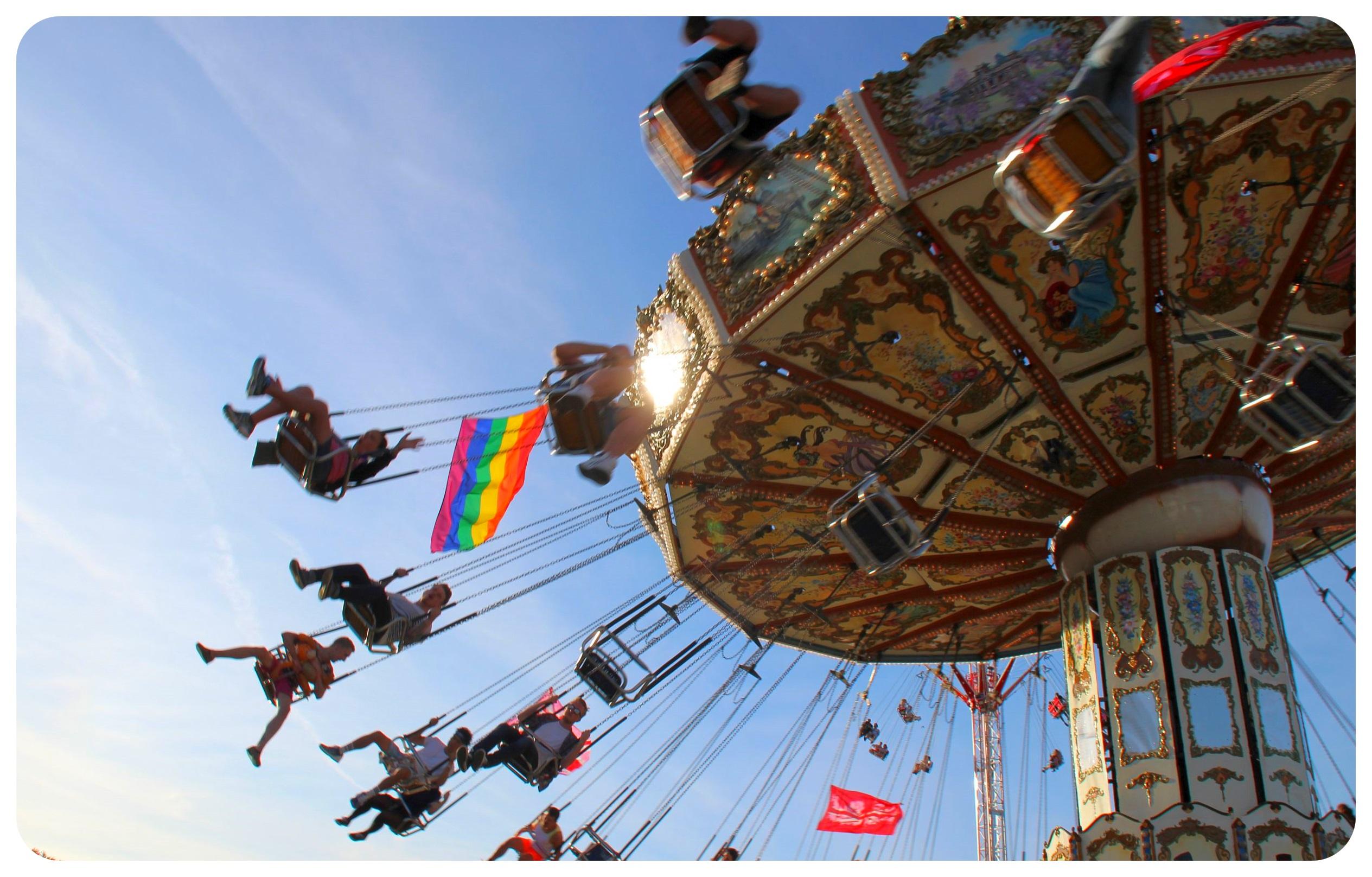Brighton Pride festival grounds carousel 2015