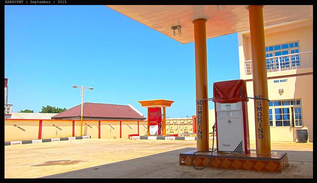 empty gas station in zaria, nigeria