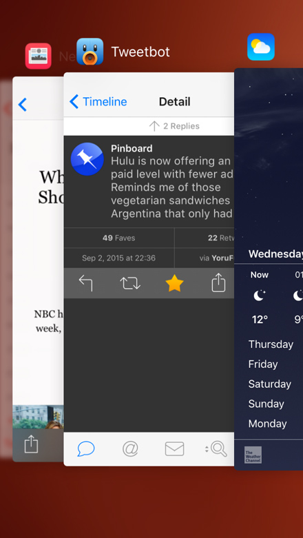 multitasking in iOS 9