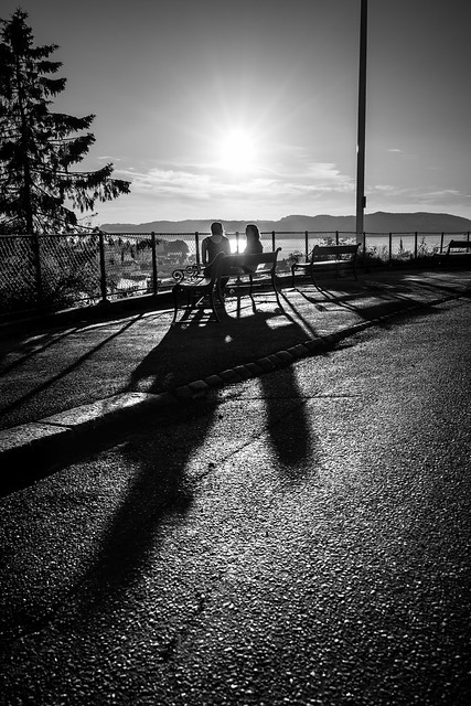 Friends - Bergen, Norway - Black and white street photography