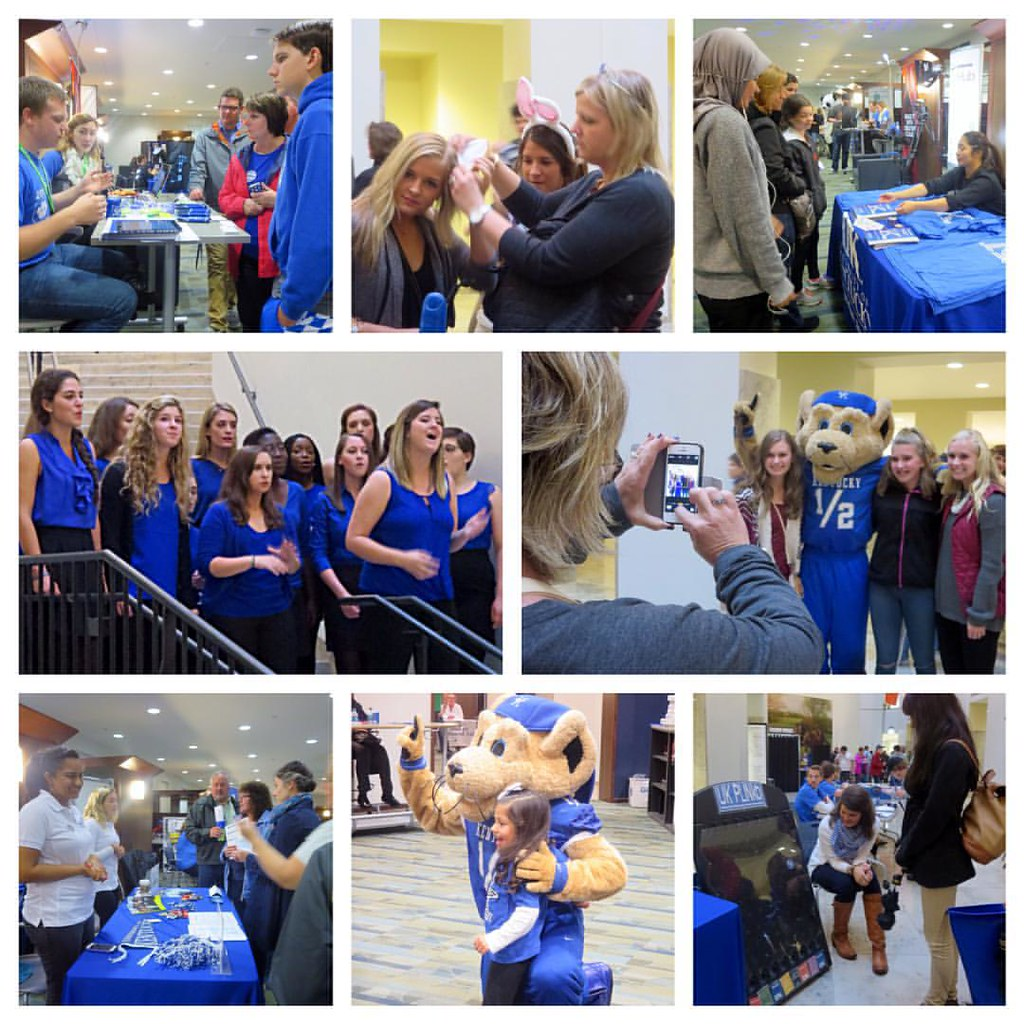 Alums & families of Wildcats came together last night for the #Raceto100 @ukhomecoming Celebration. Free food, games, swag & appearances by Scratch & @ukpawsandlisten kept the group entertained at @wtyounglibrary. #UK100HC #UKFam15 #OnOnUofK #seeblueforev