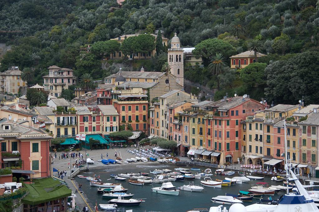 Colorful buildings in Portofino