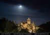 Romania - Transylvania - Dracula's Castle at night during setting Full Moon by © Lucie Debelkova / www.luciedebelkova.com