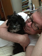 Papa Jerry and puppy