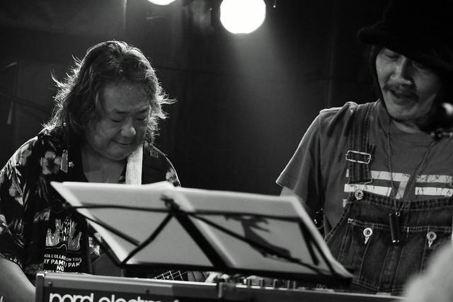 ファズの魔法使い live at Outbreak, Tokyo, 29 Sep 2015 - jam with Hideto Takenaka. 307