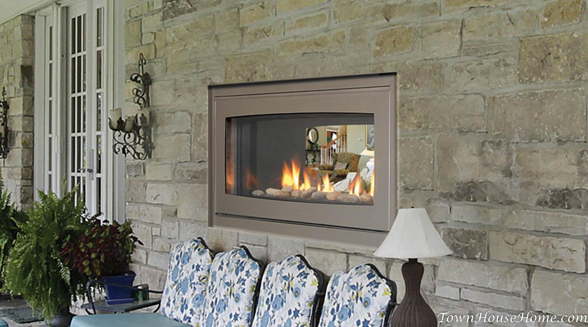 Two Way Gas Fireplace Junsaus . Indoor Outdoor ...