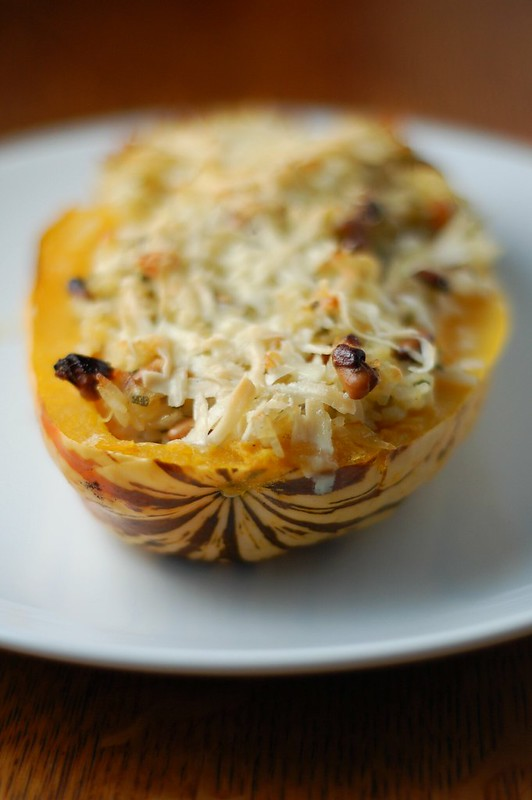 Nut and sage stuffed Delicata squash by Eve Fox, the Garden of Eating, copyright 2015