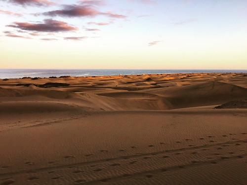 Gran Canaria - Maspalomas Dunes at Sunset