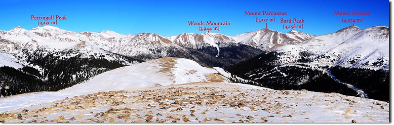 Looking northeast from the 12,479 Point at Loveland Pass West 1-1