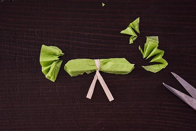紙ナプキン花作り方