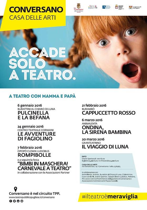 Conversano- programma teatro per ragazzi