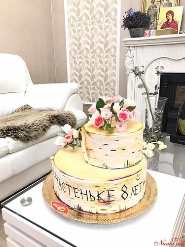 """COLIBRI > Tortă aniversară  în stil """"Rustic"""" !"""