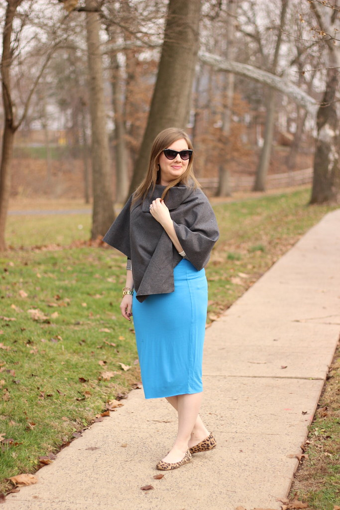 Dresslink poncho and pencil skirt (7)