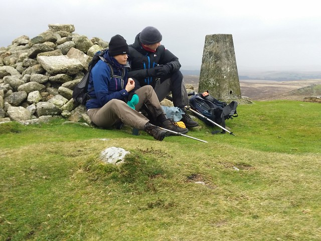 A break by the trig point on Hameldown Tor