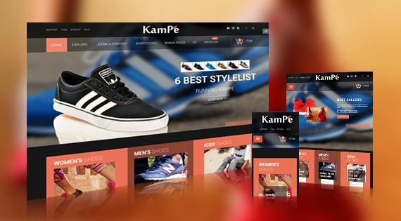 SmartAddons SJ Kampe v1.0.2 - Responsive Joomla Template