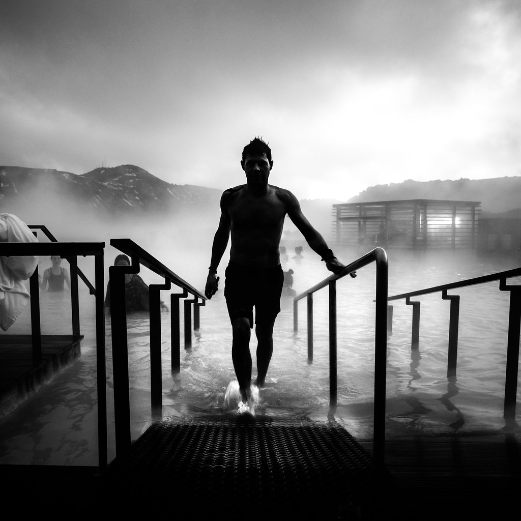 The blue lagoon - Iceland - Black and white street photography