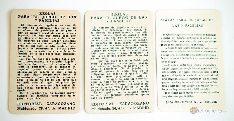 El juego de las 7 familias - evolución - cartas instrucciones