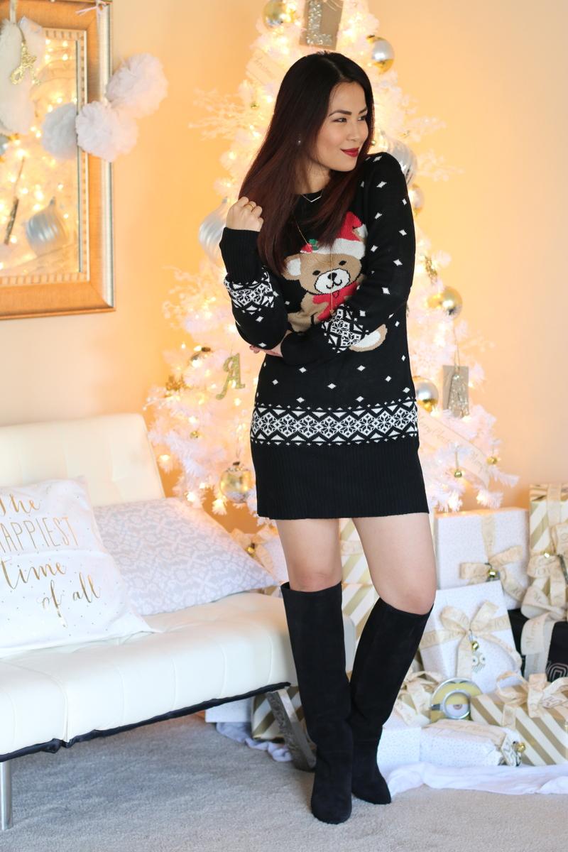 christmas-sweater-dress-teddy-bear-santa-outfit-1