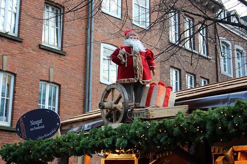 Santa on the nougat stall