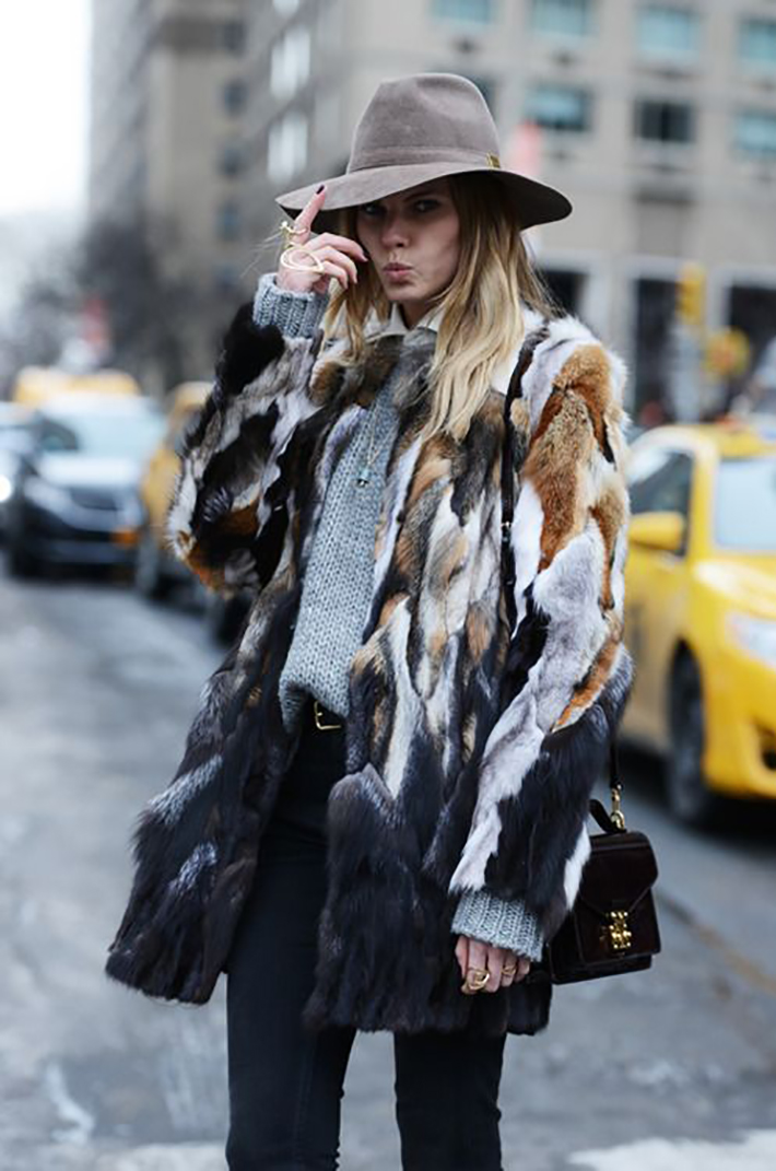 Faux Fur Coats Outfits style inspiration streetstyle9