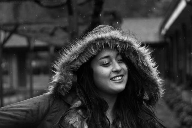 Daniela y la lluvia II. Termas de Catillo. Chile . 2016