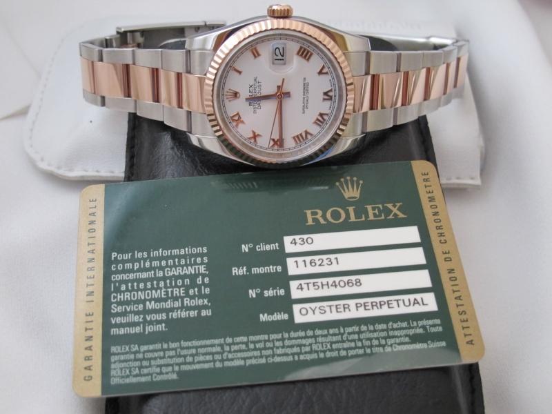 Bán đồng hồ rolex datejust 6 số 116231 – Mặt la mã – Dây oyster – Đè mi vàng hồng – size 36