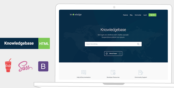 Knowledge v1.0 - Knowledgebase Documentation HTMl Template