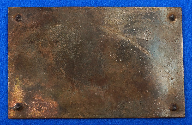 RD12929 Vintage Brass Plate Arcweld Mfg. Co. Seattle Wash. Life Raft 18 Persons DSC06601