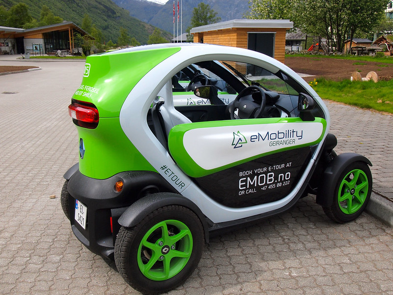 Electric Twizy in Geiranger, Norway
